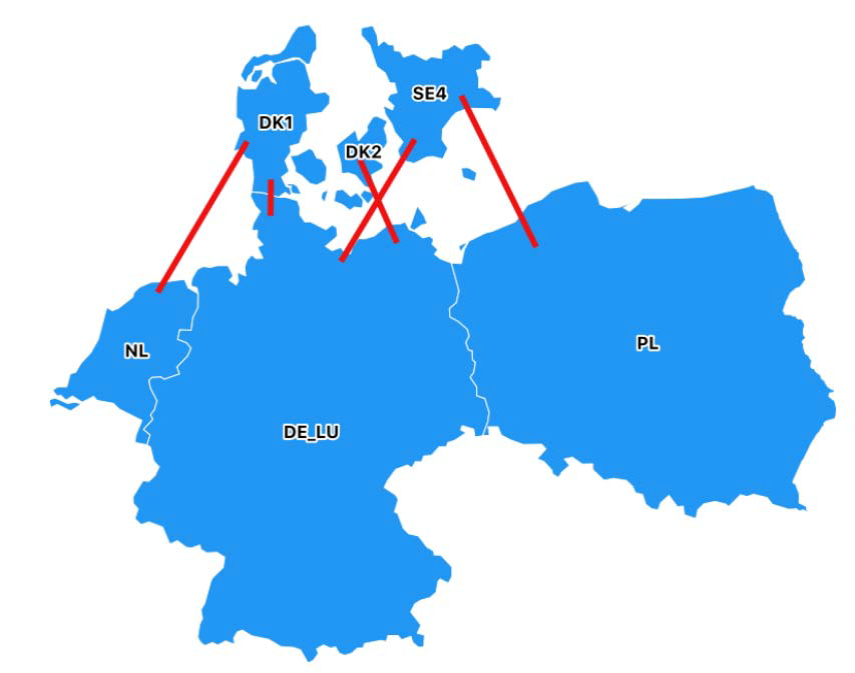 Baltic Cable and the bidding zone border Sweden 4 – Germany/Luxembourg is now included in the Capacity Calculation Region Hansa